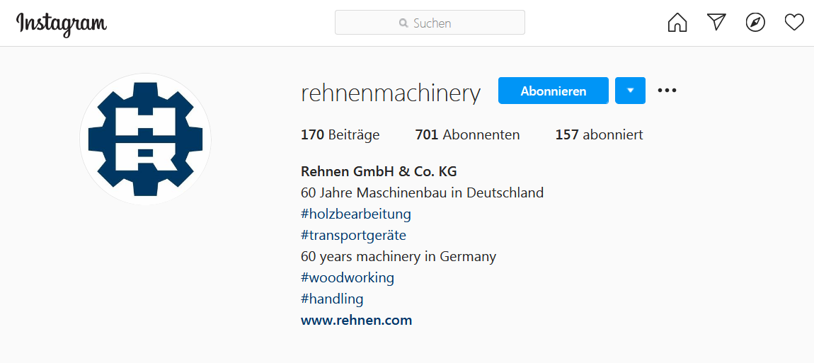 Rehnen GmbH & Co. KG  auf Instagram - B2B-Social Media Marketing